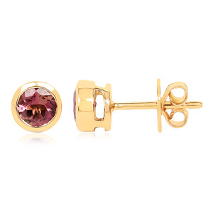 14K Pink Tourmaline Gold Earrings 6615EP