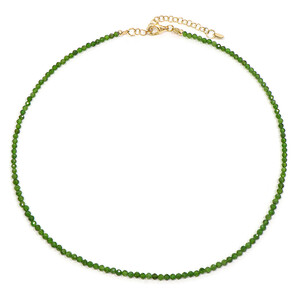 Russian Diopside Silver Necklace 6707GA