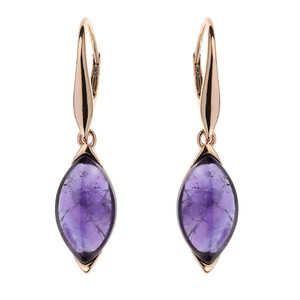 Amethyst Silver Earrings (dagen) 6710JO