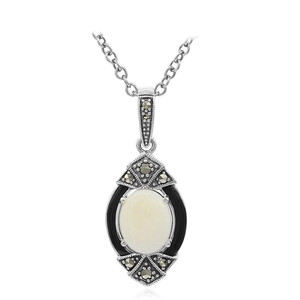 White Opal Silver Necklace 6754NY