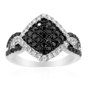 Black Spinel Silver Ring 6762WR