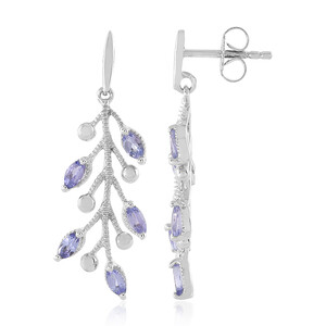Tanzanite Silver Earrings 6813WK