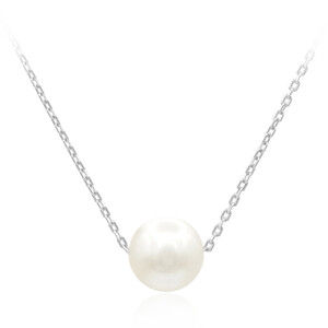 Freshwater pearl Silver Necklace 6828SP