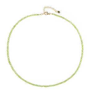 Peridot Silver Necklace 6884FN