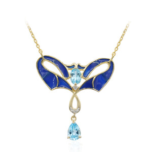 Swiss Blue Topaz Silver Necklace 6906GY