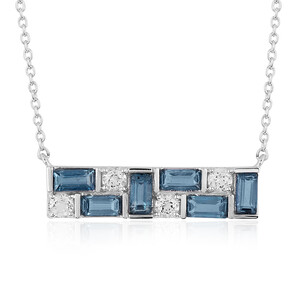 Teal Kyanite Silver Necklace 6911UQ