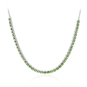 Russian Diopside Silver Necklace 6982EQ