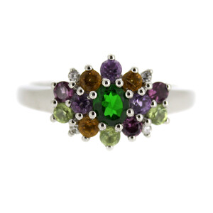 Russian Diopside Silver Ring 7029CR