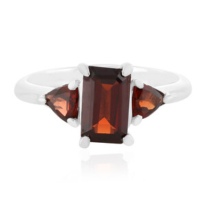 Mozambique Garnet Silver Ring 7032XS