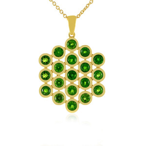 Russian Diopside Silver Necklace 7034OH