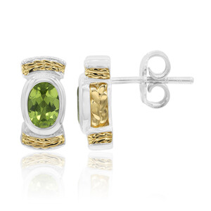 Peridot Silver Earrings (TPC) 7121CG