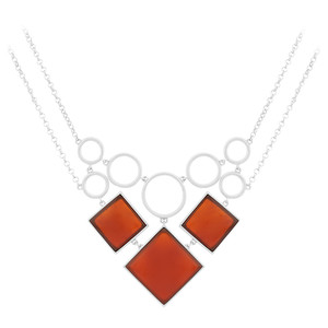 Agate Silver Necklace 7285XW