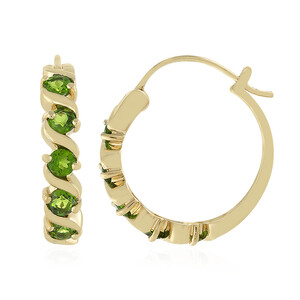 Russian Diopside Silver Earrings 7296FY