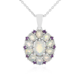 Welo Opal Silver Necklace 7337QQ