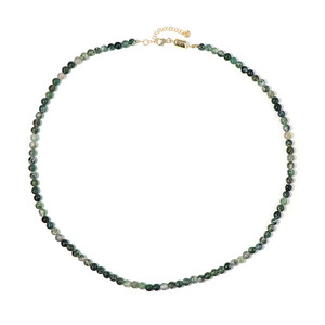 Moss Agate Silver Necklace 7375GV