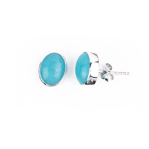 Amazonite Silver Earrings 7390RS