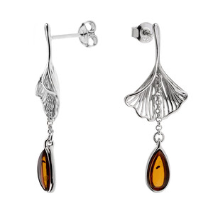 Baltic Amber Silver Earrings (dagen) 7462DY