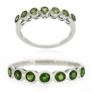 Russian Diopside Silver Ring 7490BN