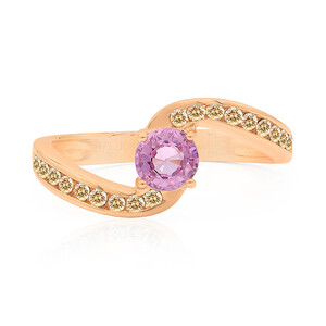 9K Pink Sapphire Gold Ring (Annette) 7490MU
