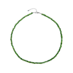 Russian Diopside Silver Necklace 7515BP