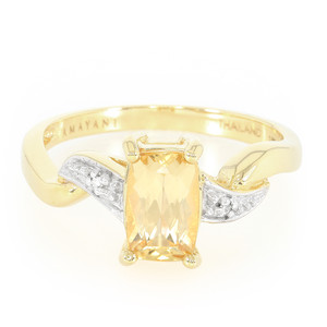 18K AAA Imperial Topaz Gold Ring 7662GP