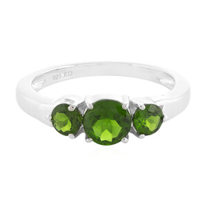Russian Diopside Silver Ring 7890BS