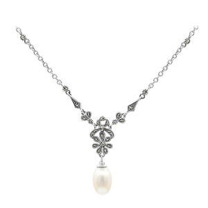 Freshwater pearl Silver Necklace 7935OP