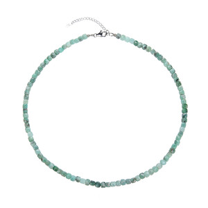 Emerald Silver Necklace 7947VL