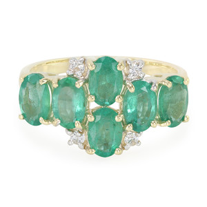9K Bahia Emerald Gold Ring 7962OI