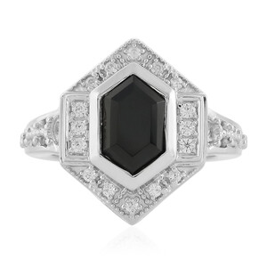 Black Spinel Silver Ring 8045TH