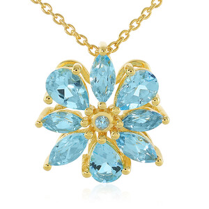Swiss Blue Topaz Silver Necklace 8053DR