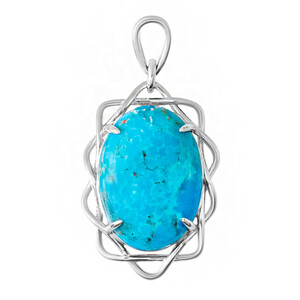 Kingman Blue Mojave Turquoise Silver Pendant 8117IW