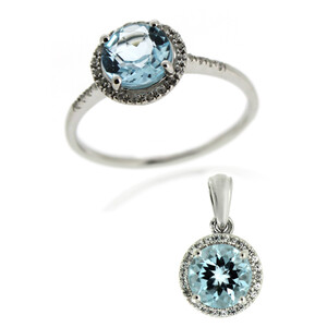 Sky Blue Topaz Silver Ring 8124MR