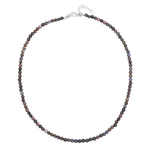 Fancy Sapphire Silver Necklace 8161AB