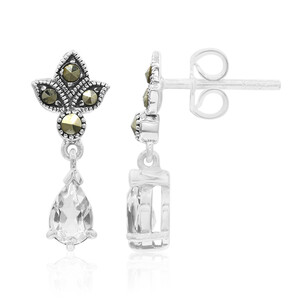 White Quartz Silver Earrings 8373LO
