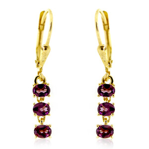 Rhodolite Silver Earrings 8405WC