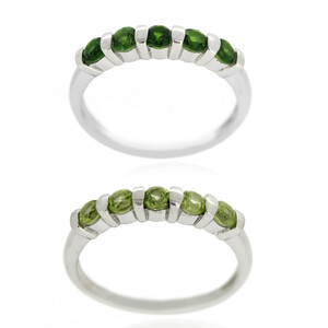 Russian Diopside Silver Ring 8405XD