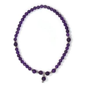 Amethyst Silver Necklace 8442NW
