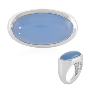 Chalcedony Silver Ring 8622QQ