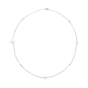 Freshwater pearl Silver Necklace (TPC) 8646IG