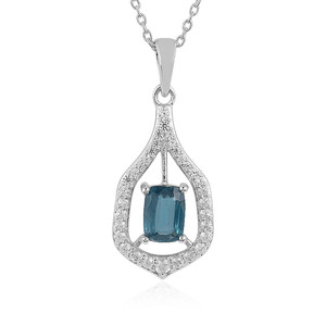 Teal Kyanite Silver Necklace 8654NH