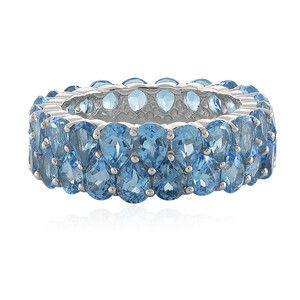 Swiss Blue Topaz Silver Ring 8763DW