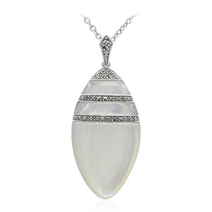 Mother of Pearl Silver Necklace 8847GL