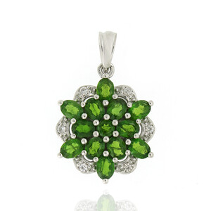 Russian Diopside Silver Pendant 8864AN