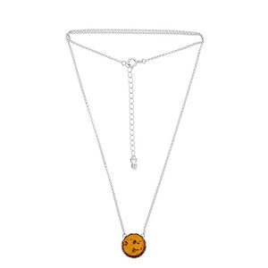 Baltic Amber Silver Necklace (dagen) 8874XH