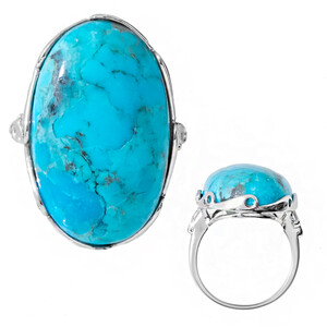 Kingman Blue Mojave Turquoise Silver Ring 8951GD