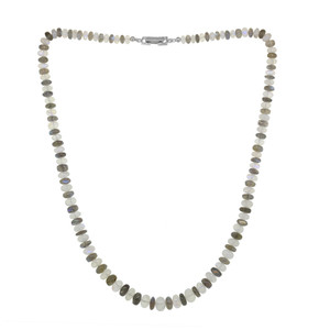 Rainbow Moonstone Silver Necklace 8967TP