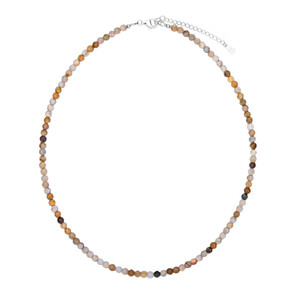 Petrified Coral Silver Necklace 8983PU