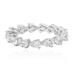 White Topaz Silver Ring 9094CT