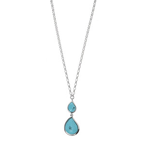 Turquoise Silver Necklace (dagen) 9108XN